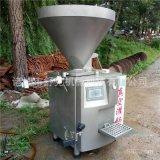 供舒克叶片式台烤灌装机器 自动上料定量扭结真空灌肠机价格优惠