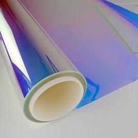 供应新款玻璃彩色膜紫光炫彩膜办公室玻璃装饰膜