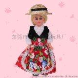 厂家供应民族服饰娃娃 塑胶娃娃