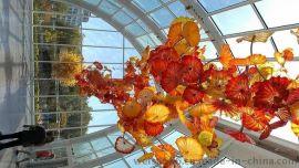 琉璃壁飾 琉璃荷葉盤 琉璃工藝品 軟裝琉璃