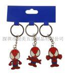 烤漆滴膠蜘蛛俠鑰匙扣定做小黃人情侶鑰匙扣定製