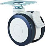 医疗轮 4寸平底刹车双轮, 医疗脚轮, 静音脚轮