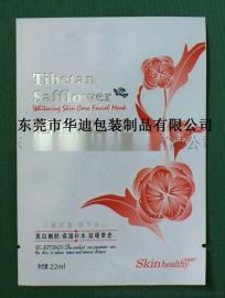 东莞华迪包装供应广州上海北京韩版红花面膜袋铝箔袋化妆品袋