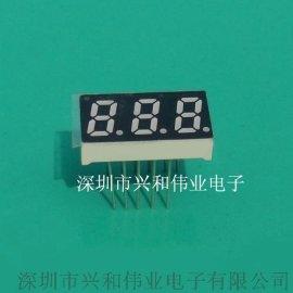 3位数码管 0.31英寸三位带点高亮LED数码管 厂家直销