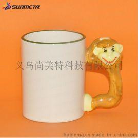 热转印生肖杯牛 俏脸动物涂层马克杯 12生肖杯批发 可定制图案