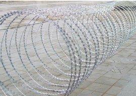 现货刀片刺网 刀片刺绳 螺旋式围墙防护网