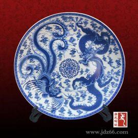 周年聚会纪念瓷盘  青花留念礼品瓷盘  陶瓷纪念盘定做