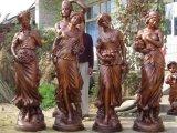 园林景观雕塑 四季女神欧式人物雕塑 西方人仿铜玻璃钢