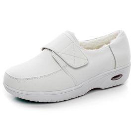 新款春季气垫护士鞋抗震真皮工作鞋女单鞋坡跟鞋促销