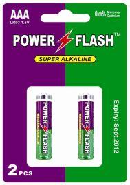 华太电池公司厂家出货碱性电池7号LR03挂卡装