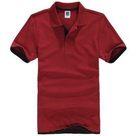 翻领短袖T恤员工工作服校班服广告衫女装男装通款  diy定制LOGO