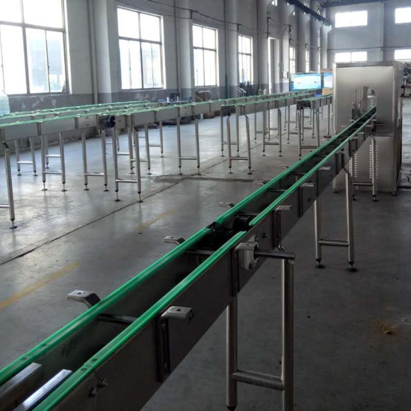 厂家直销PET塑料瓶高效率输送机灌装生产线 矿泉水瓶输送系统
