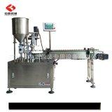 廠家直銷卡盤式灌裝壓塞旋蓋一體機 膏體液體定量精油灌裝機設備