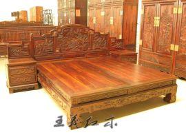 哪家的红木双人床好 明清古典中式家具