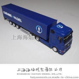 1: 87 合金KUEHNE-NAGEL 瑞士德讯物流 货柜车模型