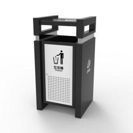 户外不锈钢印字广告垃圾桶 景区环保垃圾桶