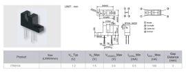 供应亿光Everlight红外线发射管反射和接收管组合光电开关ITR8104