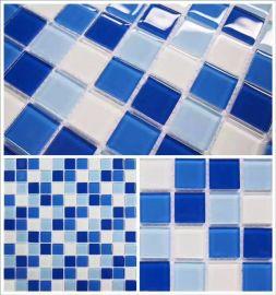 佛山厂家直销 水晶玻璃马赛克 泳池马赛克