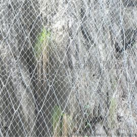 厦门山体防护勾花网 边坡镀锌铁丝网14#铁丝网