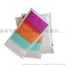 彩色花纹牛皮纸泡沫袋 防摔牛皮纸气泡信封袋