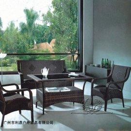 藤椅 户外藤编桌椅户外休闲家具桌椅套件 庭院花园藤编桌椅组合