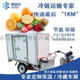 小型快递运输专用车 1.5米电动三轮冷藏/冷冻车厢
