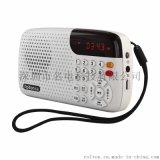 樂廷W105UV版插卡音箱迷你收音機老人晨練唱戲機