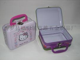 精美午餐盒 马口铁手提茶叶罐包装 罐茶叶罐铁罐 方形