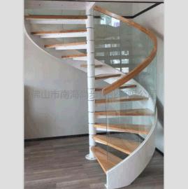 佛山尚步梯业 SBlt-062 钢木旋转楼梯