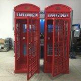 深圳厂家直销英伦电话亭,大红色,可订制
