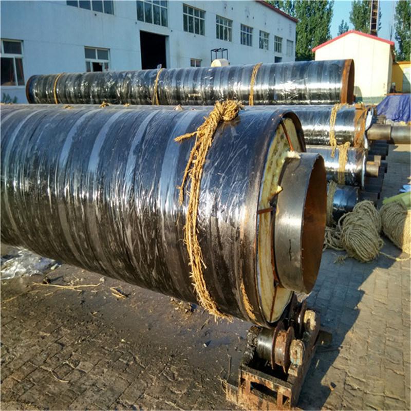 河南 鑫龙日升 预制直埋保温管道DN400/426高密度聚乙烯外护聚氨酯发泡直埋保温管