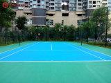 衡阳耒阳室外塑胶篮球场彩色地胶施工标准