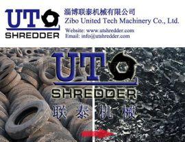 山东废旧橡胶轮胎回收处理双轴撕碎机轮胎破碎机轮胎撕碎机