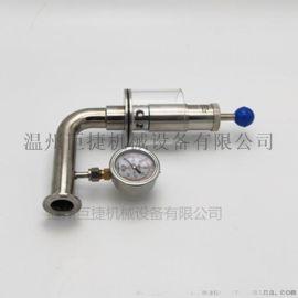 厂家直销各种不锈钢排气阀 卫生级水封排气阀