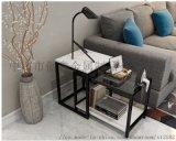 簡約現代伸縮邊幾角幾沙發邊幾鋼化玻璃茶幾北歐式邊桌