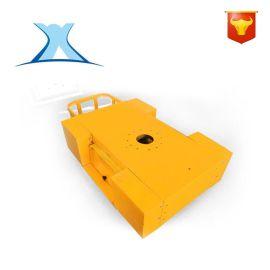 非标定制矿业搬运设备无轨蓄电池过跨车 无线遥控钢材运输工具车