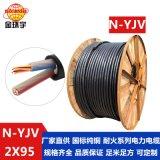 金环宇电缆 国标 铜芯电缆电缆N-YJV 2X95 耐火 工程建筑电缆线