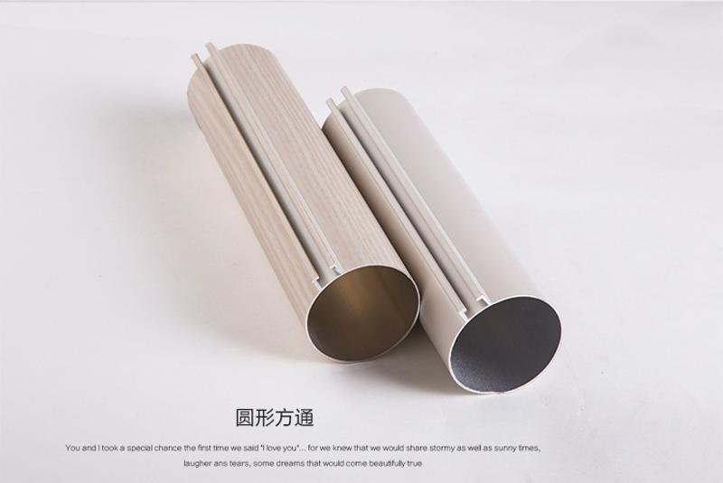 型材铝圆管天花机场地铁吊顶铝合金50mm铝圆管定制