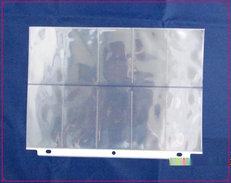 《廠家訂製》PP10格名片內頁,PP名片內冊