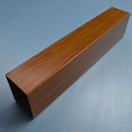 四方管幕墙广东厂家现货直销型材木纹铝方通吊顶