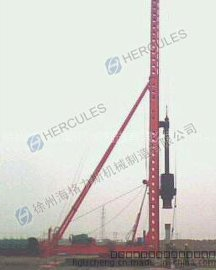 6吨柴油锤打桩机桩架液压步履式15米打桩机