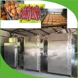 大型双开门烟熏豆腐干机器高效无需翻面豆腐干烟熏设备