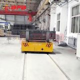 压铸模具65吨转弯式电动平车 滚轮V型架轨道车