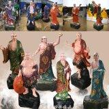 十八罗汉佛像1.6米 玻璃钢彩绘 寺庙宗教佛教厂