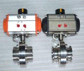 供应D681X气动卫生级快装蝶阀,快装蝶阀,不锈钢气动蝶阀