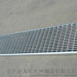 钢格板钢梯踏步板G403/30/50 型楼梯踏步格栅焊接钢格栅板