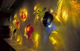 厂家直销 琉璃荷叶盘 琉璃摆件 艺术琉璃工艺品酒店软装琉璃产品