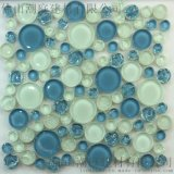 圆形马赛克 圆形水晶玻璃马赛克 蓝色圆形玻璃马赛克