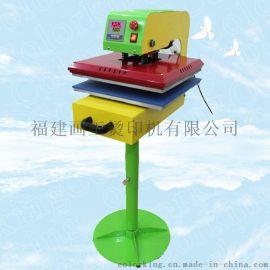 电动抽拉式服装布料烫画机 带脚架稳定  装烘干熨平设备