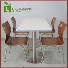 小吃店快餐桌椅,钢木结构桌椅组合定做